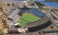 Exhibition Stadium - Toronto - one awful place to watch a baseball game... so windy, few amenities, exactly the opposite of skydome. only major league stadium where the outfield seats were covered but the main grandstand was not. first visit: summer 1988.
