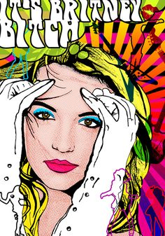Image Detail for - Britney spears- Pop-art poster by ~tbubicans on deviantART