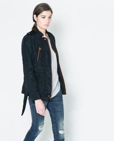 QUILTED JACKET WITH PIPING - Blazers - WOMAN   ZARA United States