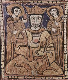 """Roger II, king of Sicily The Painted Wooden Ceiling of the Palatine Chapel, """"Cappella Palatina"""", Palermo, Sicily, c.1140AD"""
