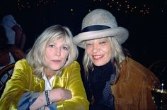 Marianne Faithfull and Anita Pallenberg attending a Rolling Stones concert at Brixton Academy  | 1998 | Photographed by Pattie Boyd (x)