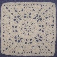 Summer Romance Square (12″) | Crochet Free Pattern