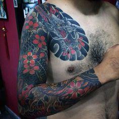 Best Sleeve Tattoo Ideas For Men - Best Half Sleeve Tattoos For Men: Cool Half Sleeve Tattoo Ideas, Badass Sleeve Tattoo Designs For Guys Half Arm Sleeve Tattoo, Unique Half Sleeve Tattoos, Quarter Sleeve Tattoos, Half Sleeve Tattoos Designs, Full Sleeve Tattoos, Dragon Tattoos For Men, Dragon Sleeve Tattoos, Cool Tattoos For Guys, Dragon Tattoo Designs