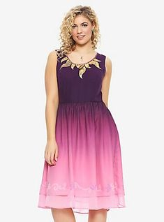 Her Universe Destination Disney Tangled Ombré Dress Plus Size, MULTI COLOR