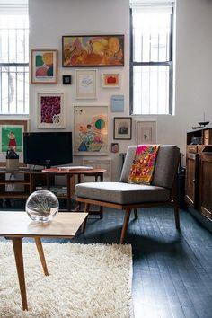 EL ESPIRITU BOHEMIO Y LIBRE DE BROOKLYN Apartamento No Brooklyn, Interior Inspiration, Room Inspiration, Design Inspiration, Design Ideas, Design Design, Design Trends, Design Homes, Design Room