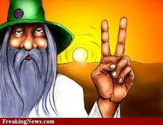 Hippie Peace Art....