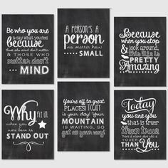 Project Life Printables - 3x4 Journaling Cards - Chalkboard Dr. Suess Quotes. $3.00, via Etsy.