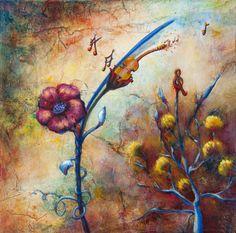 Y'a d'la musique dans l'air is a whimsical painting of music Air, Whimsical, Painting, Music, Painting Art, Paintings, Painted Canvas, Drawings