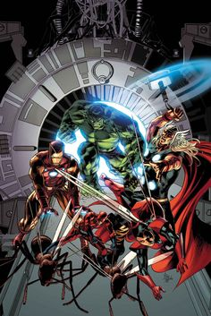 Avengers Vol. 5 # 25 by Mike Deodato Jr. Marvel Comic Character, Comic Book Characters, Comic Book Heroes, Marvel Characters, Comic Books Art, Comic Art, Comic Pics, Book Art, Fictional Characters