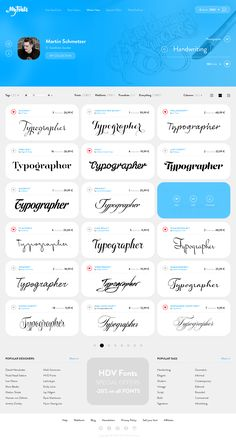 MyFonts - Redesign by Steve Fraschini