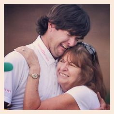 Bubba couldn't contain his emotions as he hugged his mom after winning the 2012 Masters.