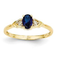 14K Diamond & Sapphire Ring XBS282