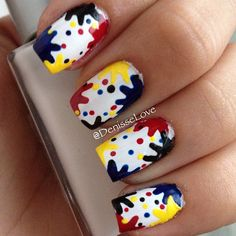 Unhas coloridas, unhas desenhadas, unhas decoradas, nails art