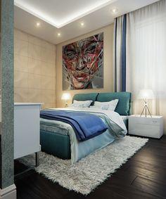 3d rendering of a bedroom