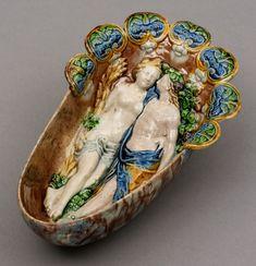Sauce boat  Bernard Palissy  About 1550-1600  Paris  Lead-glazed earthenware  Museum no. C.2311-1910
