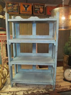 Old painted bookcase / shelf by CottageTreasuresLV on Etsy, $150.00