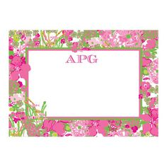 Lilly Pulitzer - Correspondence Cards - Beach Rose