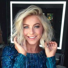 Choppy Blonde Wavy Bob Hairstyle