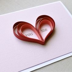 You and Me Hearts Card