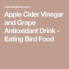 Apple Cider Vinegar and Grape Antioxidant Drink - Eating Bird Food