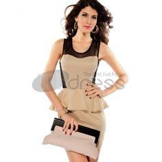 leather Coats-Rivet punk style dress