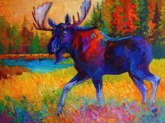Majestic Monarch - Moose Painting - Majestic Monarch - Moose Fine Art Print