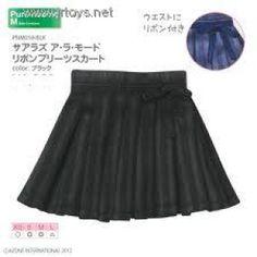 JR Toys House *** Azone Pure Neemo Sahras a la mode Ribbon Pleats Skirt (Black) Blythe Pullip Momoko ***