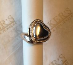 Vintage sterling silver & 14k Puffed Heart by BeckersJewelersCT