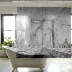 Brooklyn_ Shower_Curtain by Izola
