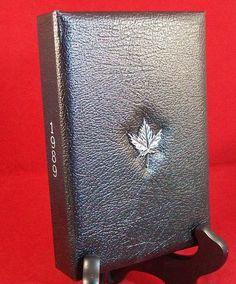 Royal Canadian Mint 1989 proof set leather case includes plastic box