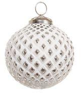 Шар стеклянный сетка бело-серебряный 10cm 38288
