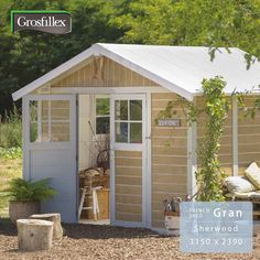 物置や作業場、自転車倉庫などに使えるフランス発のお庭に馴染む小屋型収納庫。