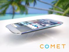 Comet - The First Buoyant, Water-Resistant Smartphone - With Comet, your smartphone goes wherever you do- even in water!  #Smartphone #Kickstarter #Crowdfunding