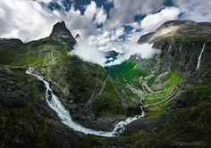 Trollstigen panorama by freeezzzz  on 500px