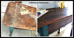 DIY Refinishing Furniture With Coconut Oil Tutorial Repurposed Furniture, Diy Furniture, Furniture Refinishing, Restoring Old Furniture, Furniture Restoration, Coconut Oil, Diy And Crafts, Dining Table, Interior