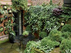 Julianne Moore's Verdant New York City Garden Photos   Architectural Digest