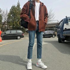 The Best Examples for Korean Street Fashion Outfits Casual, Mode Outfits, Retro Outfits, Fashion Outfits, Korean Fashion Men, Korean Street Fashion, Men Fashion, Fashion Belts, Fashion Rings