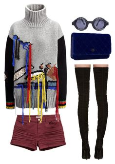 """""""fall sweater + knee high boots"""" by coryamarbun on Polyvore featuring Chanel, Joseph and Balmain"""