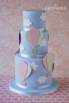 View our celebration cakes gallery with birthday cakes, christening cakes, engagements cakes, anniversary cakes and other novelty cakes. Baby Shower Cupcakes For Girls, Girl Cupcakes, Cupcake Cakes, Cake Fondant, Beautiful Cakes, Amazing Cakes, Hot Air Balloon Cake, Torta Baby Shower, London Cake