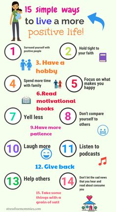 15 simple ways to live a more positive life- A true inspiration! Everyone strives to have a more happy and positive life but sometimes we don't commit to it. These simple steps will help you do just that, commit and start living a more positive life because you deserve it!
