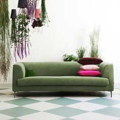 Sofa Sombret (3-Sitzer) - Webstoff - Olivgrün