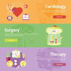Flat Medical Banners Concepts by painterr on Creative Market