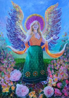 Beautify your Life with ArchAngel Jophiel Workshop (Art painted/commissioned by Claire from Freedeva.com exclusively for PalmyHealing)