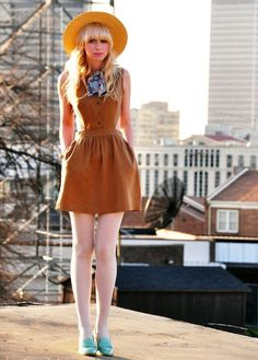 Coury Combs (Fancy Treehouse) - Urban 1972 dress, ASOS loafers, American Apparel tie, and vintage hat.