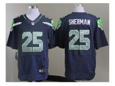 Shop Online For Nike NFL Seattle Seahawks  25 Richard Sherman blue Jerseys( Elite) 5b6ae64ce