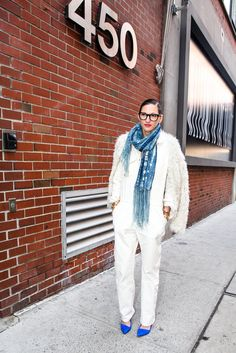 It was white-on-white for the Winter, broken up by just a touch (or two) of bright blue.
