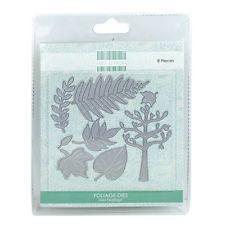First Edition  metal Dies set  Foliage leaves tree fern  FEDIE019