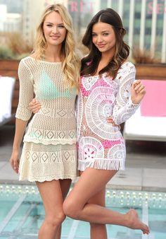 Candice Swanepoel & Miranda Kerr