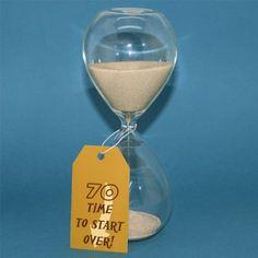 70th Birthday Hourglass - Funny 70th Birthday Gag Gift