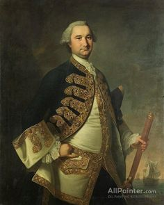 Thomas Hudson,Rear-admiral Richerd Tyrell oil painting reproductions for sale